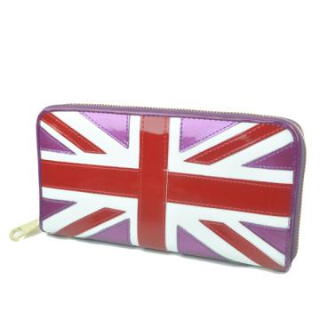 Юнион Джек бумажник для женщин-блестящая кожа pu