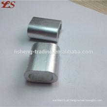 Fábrica grossista din3093 ferrules de alumínio para cabo de aço