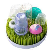 BPA Free Detachable PP Grass bottle drying rack travel baby bottle countertop drying shelf lawn grass baby bottle drying rack