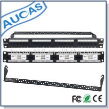 UTP Patch Panel 24 Ports CAT6 ungeschirmt 8p8c rj45 Netzwerk CE / ROHS / FCC