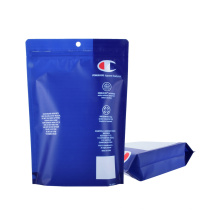 Print Stand up Plastic Underwear Packaging PE Recyclable Reclosable Zipper Ziplock Clothing Packaging Bag