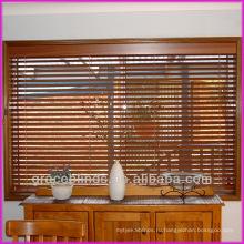Внутри крепление, декоративные ткани ленты, наклоном шнура влево, поднимите правый шнуры, 2 дюйма реальные деревянные шторки
