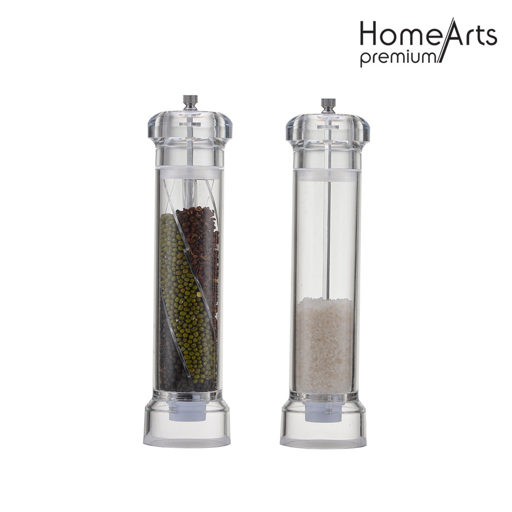 Straight Glass Hand Pepper & Salt Mill / Grinder