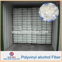 Materiales plásticos ligeros Reforzamiento de hormigón PVA Fibras
