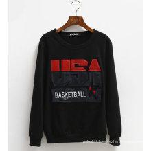 Custom Pullover Leather Fleece Hoodie China Wholesale