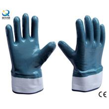 Blue Nitrile Safety Work Gloves (N6001)