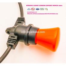 SLO-113 Cordes d'éclairage extérieur Corde robuste avec 18 douilles 21 ampoules à incandescence (3 pièces de rechange) Edison Vintage Weatherproof