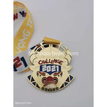 Bespoke Award Race Gold Metal Sports Medal
