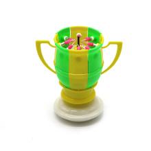Flat Bottom Rotatory Celebrated Football Candle