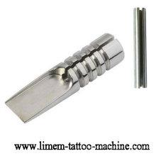 Professioneller 316L Edelstahl Magnum Tattoo Grip mit Spitze und geschlitztem Rohr