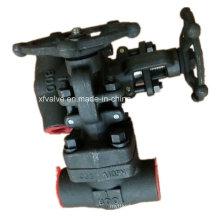 800lb a forgé la valve de globe d'extrémité de fil de l'acier au carbone A105 NPT