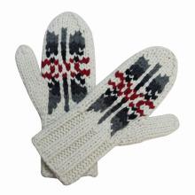 Леди мода шерсть нейлон трикотажные зимние теплые перчатки (YKY5418)