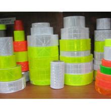 ceinture réfléchissante faite sur commande de bande de PVC de couleur avec la norme EN471 class 2
