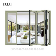 Foshan factory Aluminium folding Sliding Doors/heavy aluminum door
