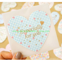 Heart-Shaped Romantic Design Wishing Paper Card with Envelope
