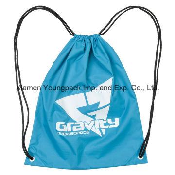 Cheap promocional personalizado Kids Nylon Drawstring Cinch mochila bolsa