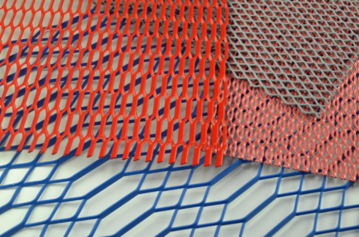 Bule powder coated Expanded Metal Mesh