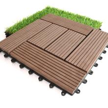 Easy Installation Composite Deck Tiles Outdoor/Garden WPC Interlocking Decking Tiles