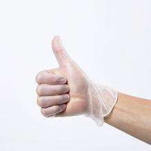 gant d'examen sans poudre de vinyle gants jetables en vinyle acides slkals