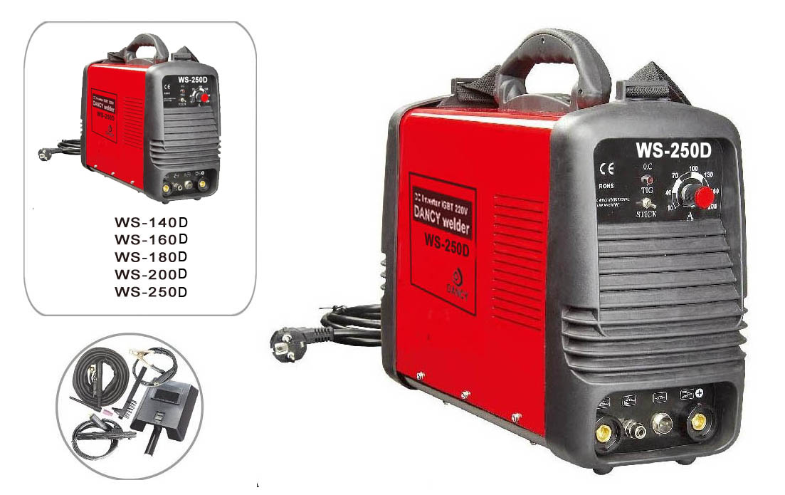 Dual voltage 220/110 WS mma/tig welding machine