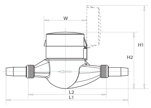 Intelligent Water Meter/Low Cost Water Flow Meter/Multi Jet Water Meter