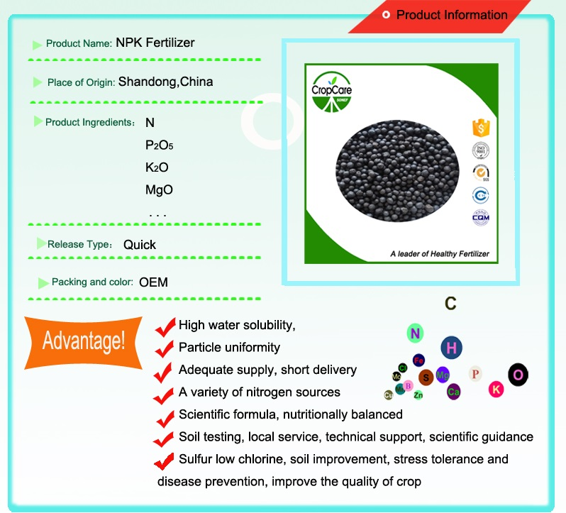 Wholesale Granular NPK 15-15-15 Compound Fertilizer