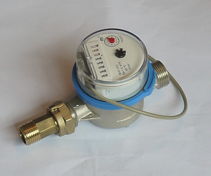 Single Jet Dry Type Water Meter with Pulse Output Function