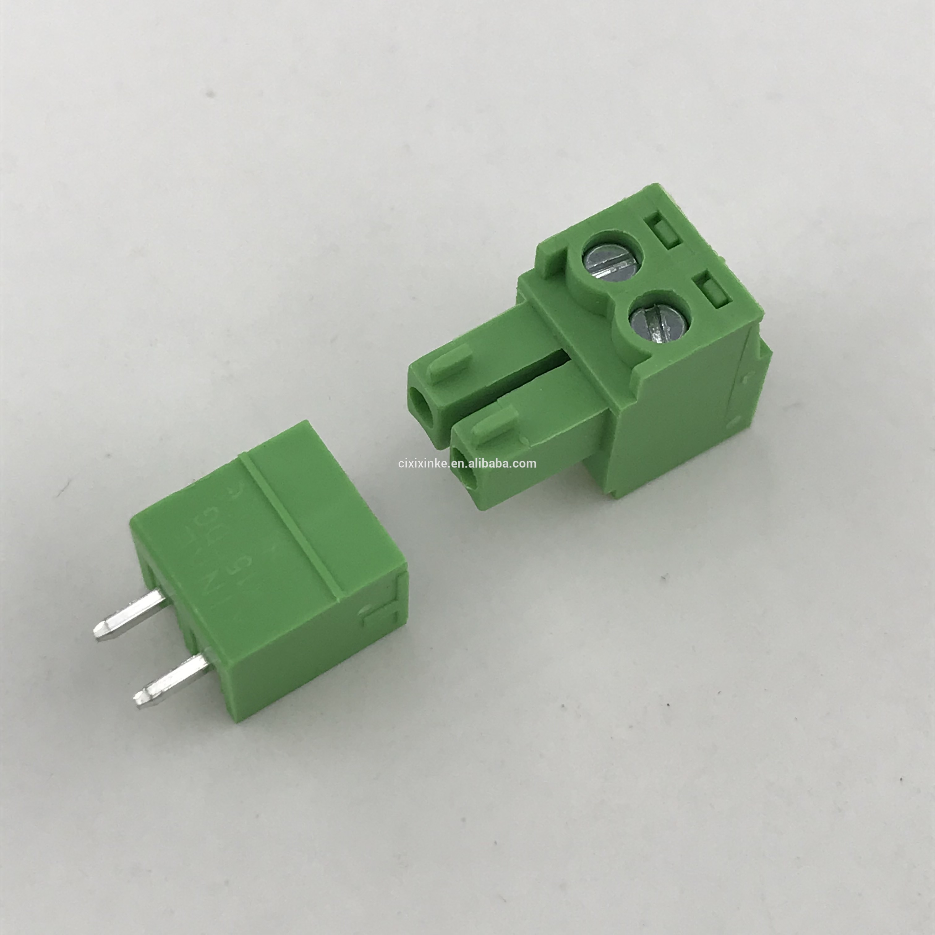 2 pin 3.81mm Pitch plug-in PCB terminal block