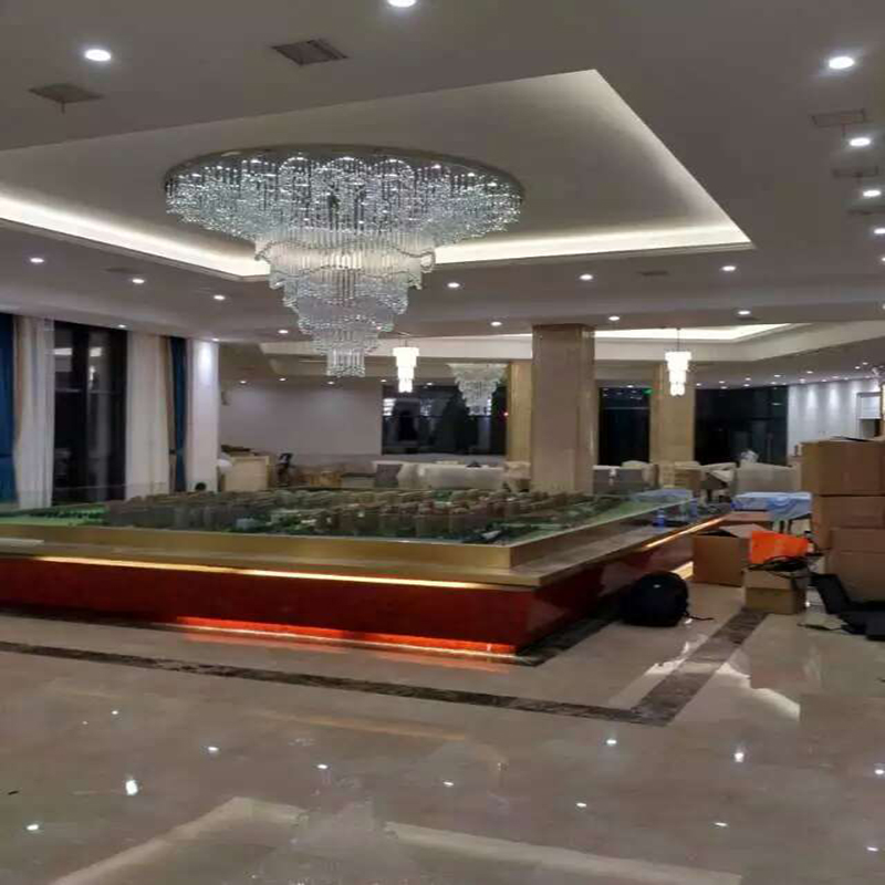 Big Size Modern Glass Crystal Pendant Lamp Project with Hotel