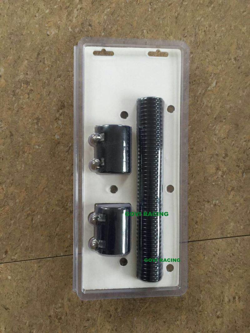 20in Chromed Flexible Stainless Steel Radiator Hose Tube Pipe