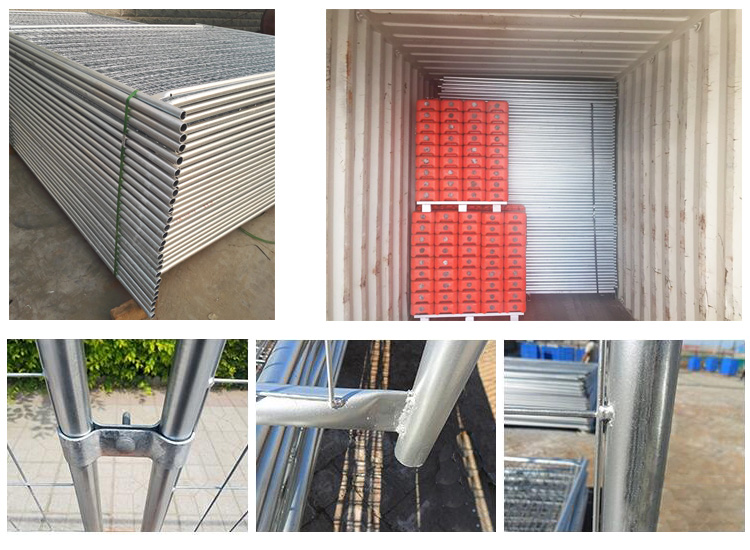 australia standard galvanized metal temporary fence