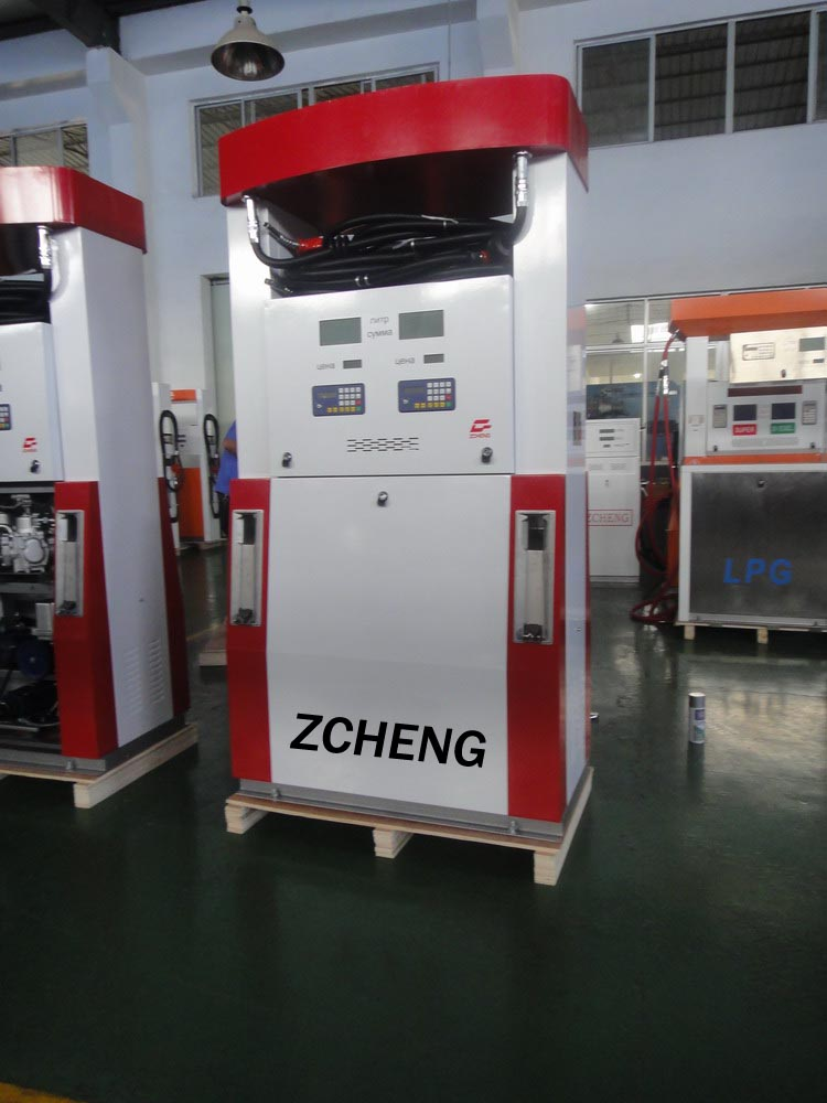 Zcheng Red Color Benett Fuel Dispenser Double Pump