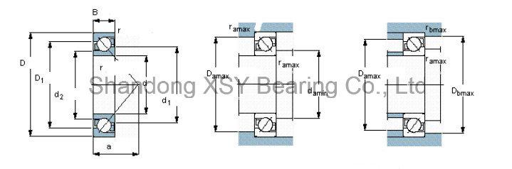 7214 B Pulley Angular Contact Ball Bearing