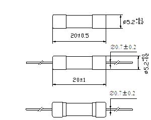 PSE Certificate Glass Tube Fuse Fast-Acting Axial Lead
