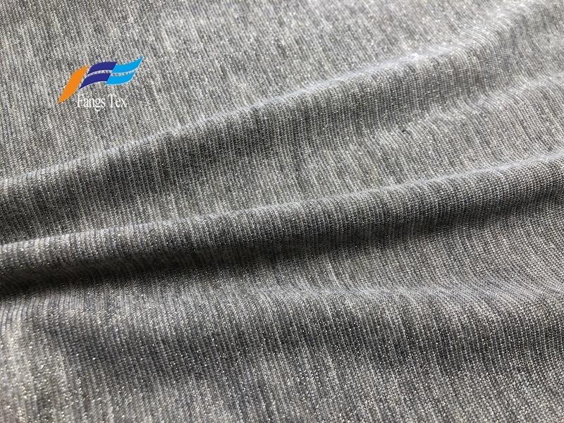 Lurex Nylon Knitted Polyester Spandex Shiny Lycra Fabric 2