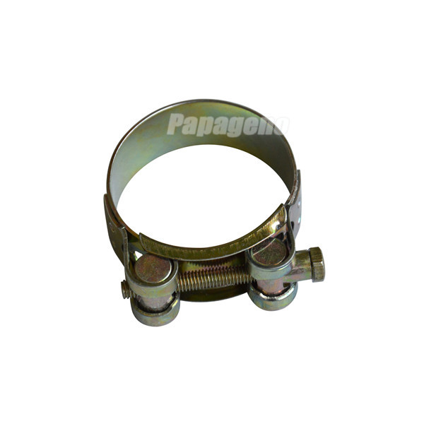 Single Bolt Solid Nut Heavy Duty Hose Clamp