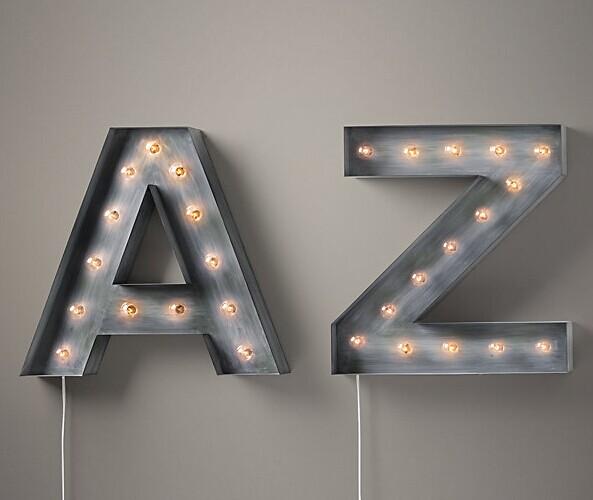 Antique Finish Shop Sign Letterts with Frontlit LED