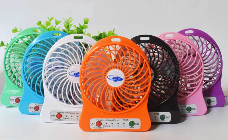 Hot Summer 5V Portable Micro USB Mini Fan Hand Battery Rechargeable Air Cooling Fan