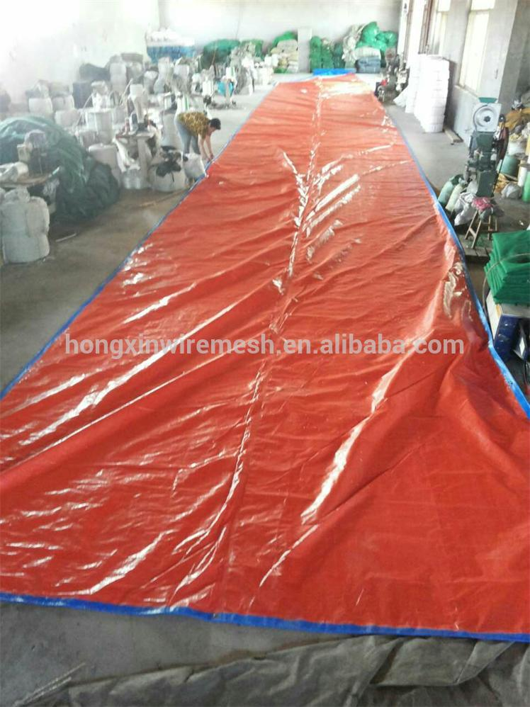 orange blue color tarpaulin