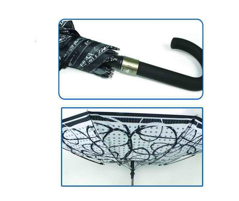 Straight Automatic Black&White Design Umbrella (YS-SA23083916R)