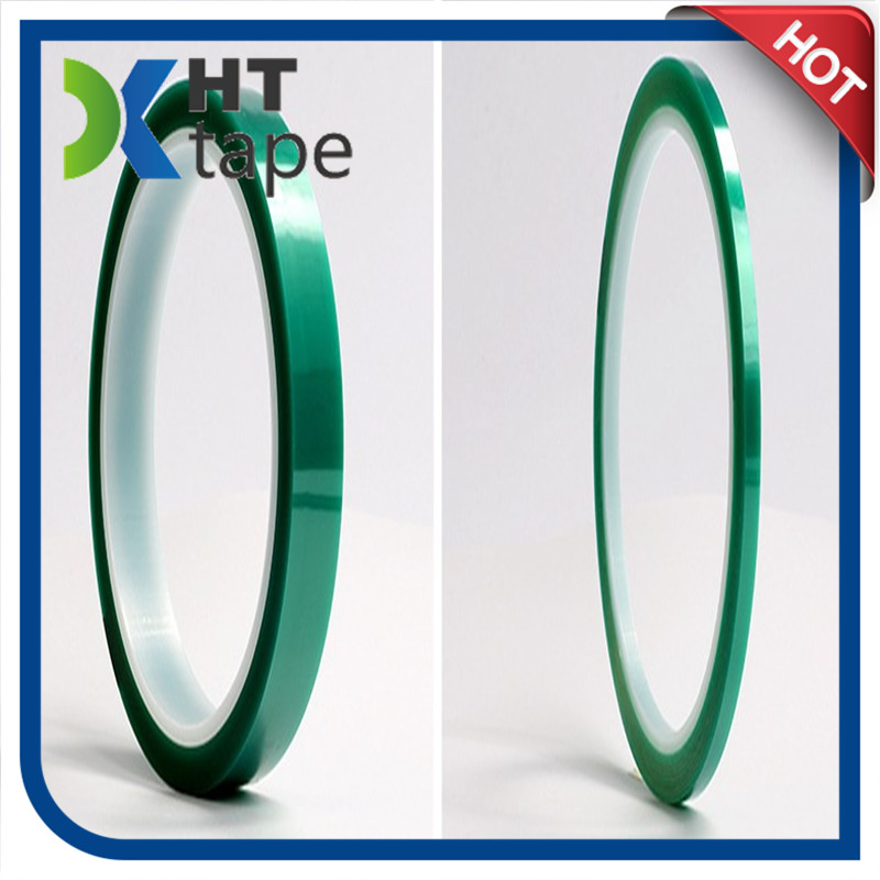 0.06 Thick High Temperature Polyester Adhesive Tape Pet Green Tape