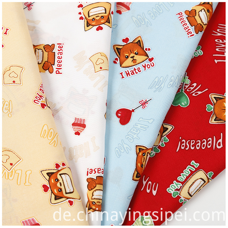 woven plain printed poplin fabric price per meter for garment