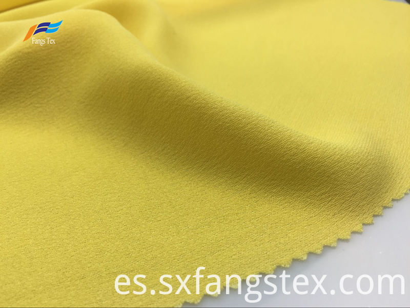 100% Polyester Yarn Dyed Yellow Ladies Dress Fabric 1