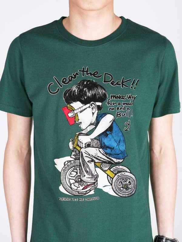 Custom Funny Carton Fashion Printed Men's Cotton T Shirt