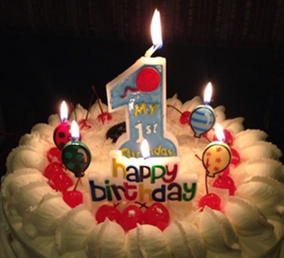 birthday number cake candle