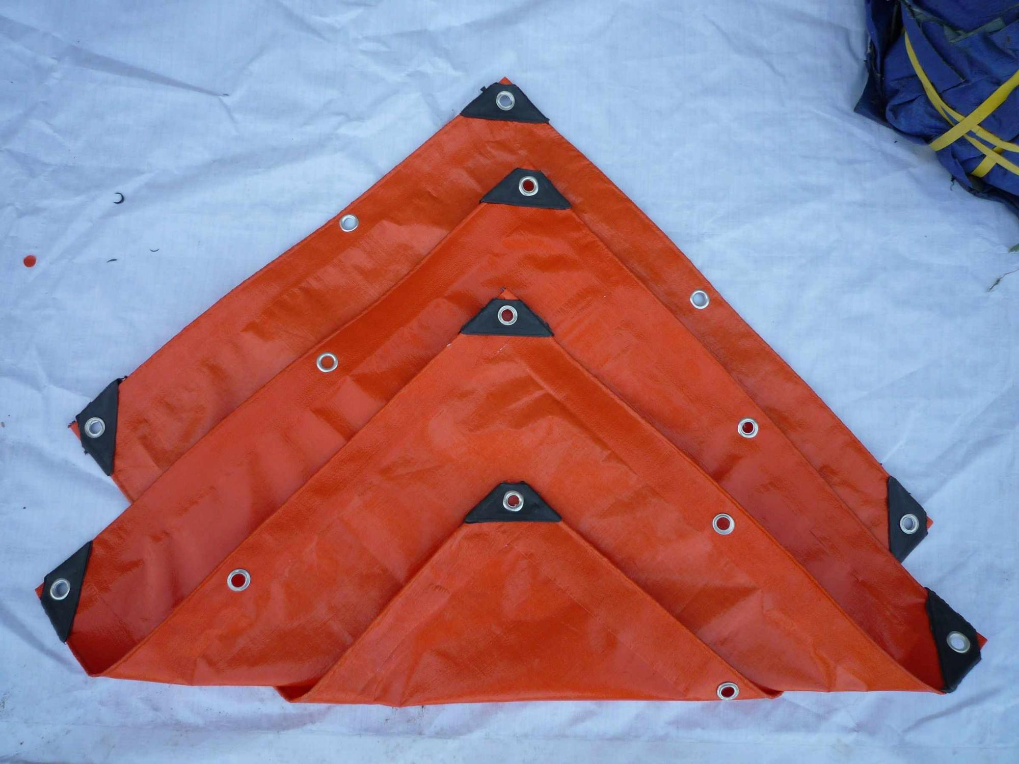 PE tarpaulin white orange color