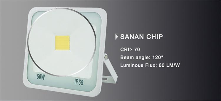 Sanan Chip High Lumen 70-80lm/W White Reflector COB Floodlight Fixture