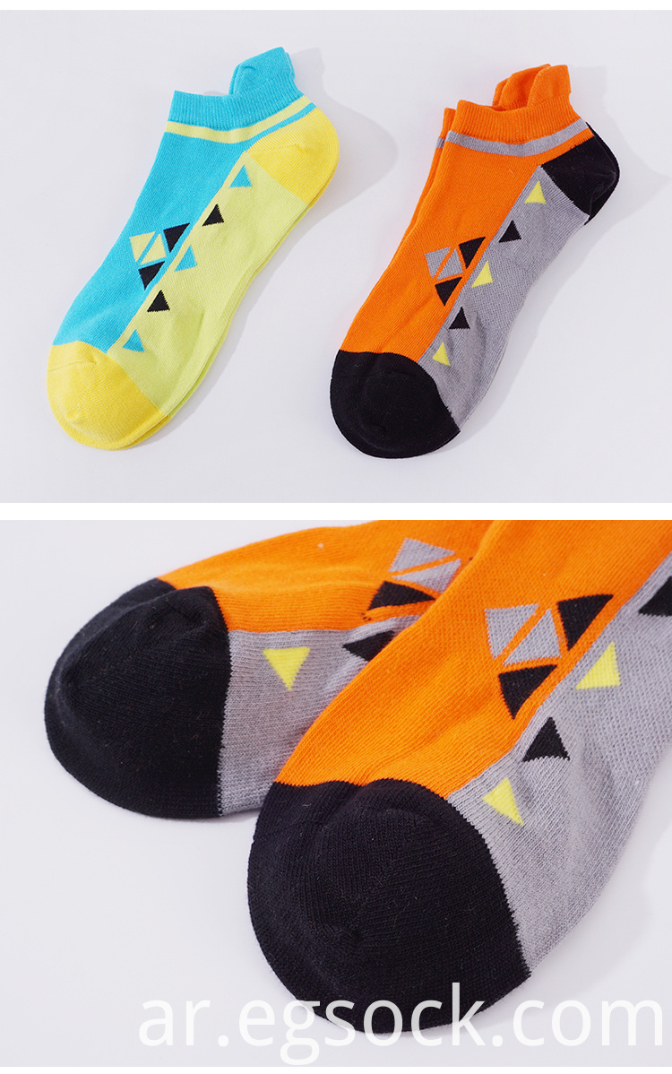 custom non-slip cotton ankle socks