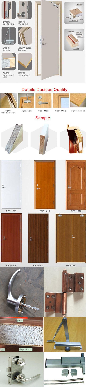 Anti Fire Single Double Wood Door