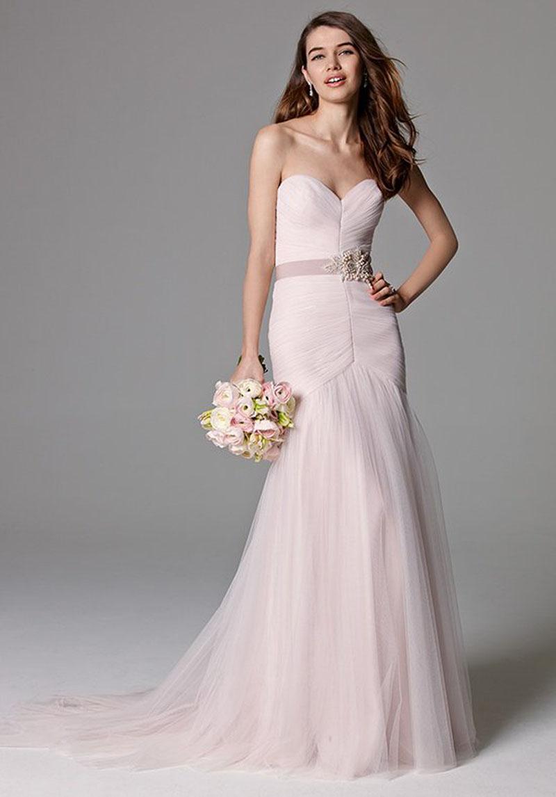 Luxury Pink Mermaid Wedding Dress